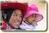 peruvian mother and daughter