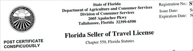 Florida Seller of Travel Licensed