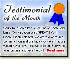 Testimonial of the Month