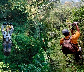 Zipline in Peruvian Rainforest