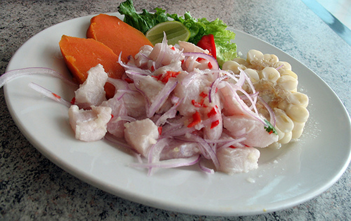 Ceviche from Chez Wong in Lima Peru