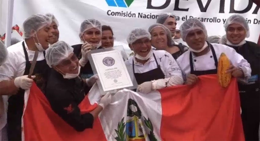 Peru Adventure Tours and Guinness World Record for 7m Long Chocolate Bar